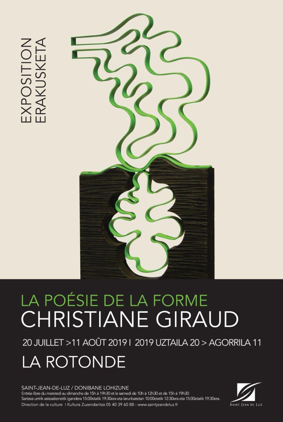 La Poesie De La Forme Christiane Giraud Affiche