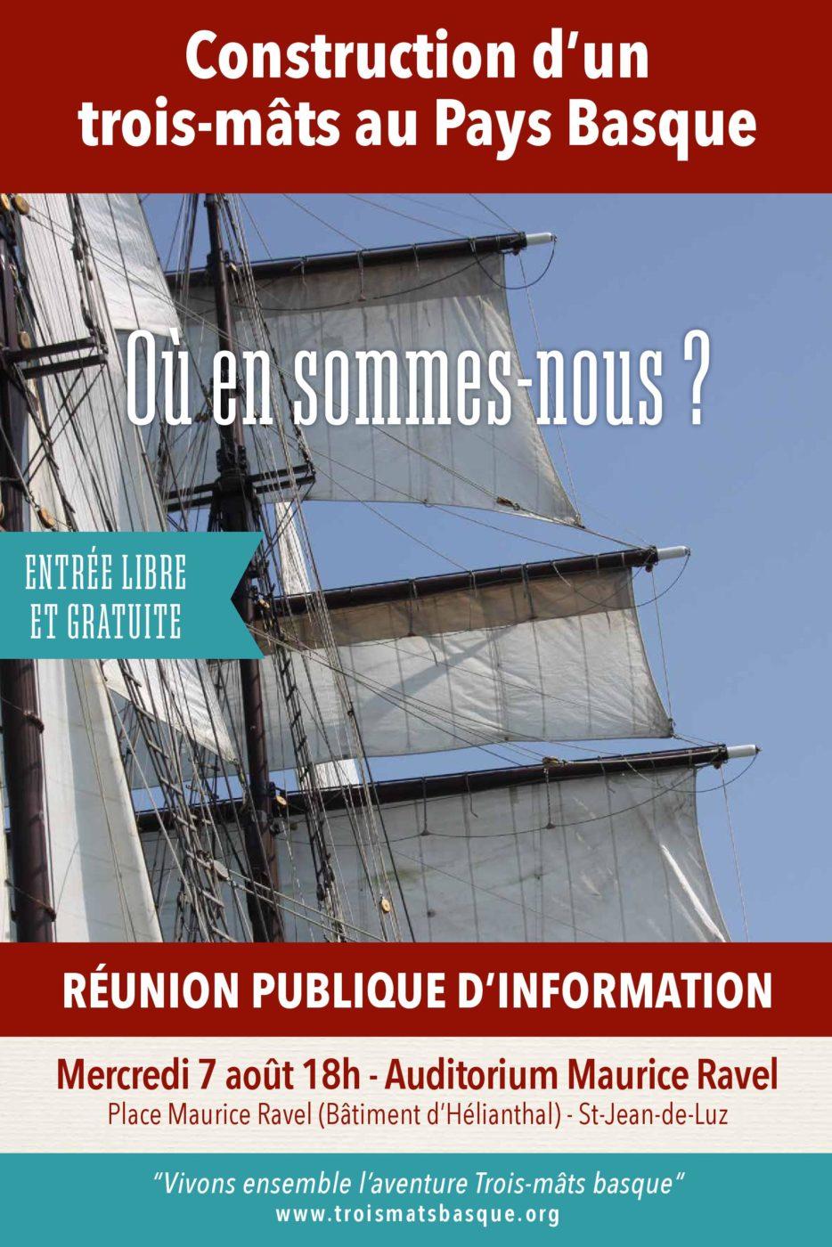 Affiche Reunion Trois Mats Basque Aout 2019