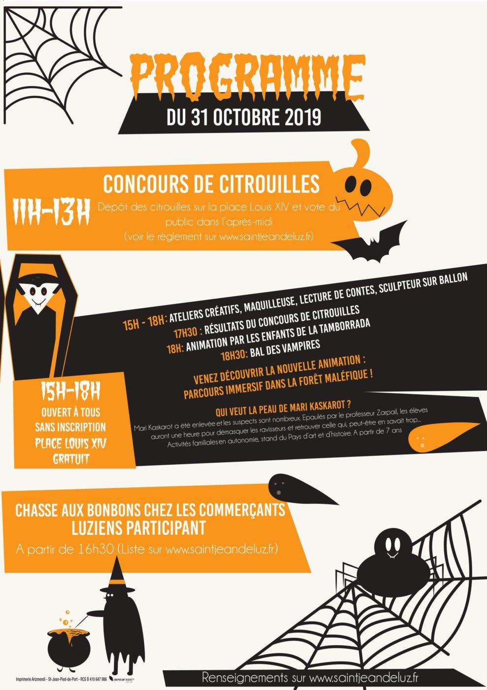 La Cite De La Peur Halloween 2019 Programme