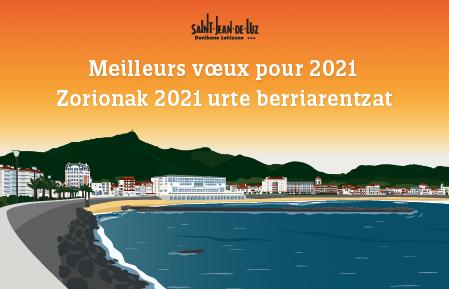 Affiche Voeux 2021 Saint Jean De Luz